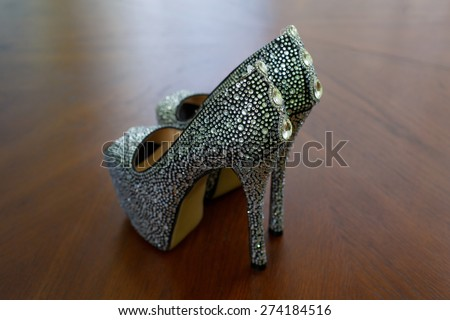 beautiful bride shoes   beautiful girl in shoes with high heels elegant shoes on high heels with shiny stones