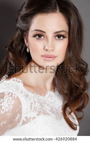 and brown hair styles royalty free beautiful portait wedding makeup 6417