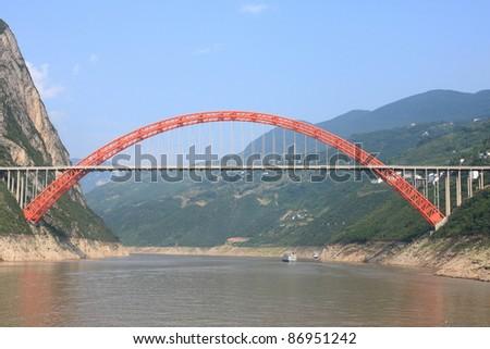 Beautiful bridge over yangtze river china