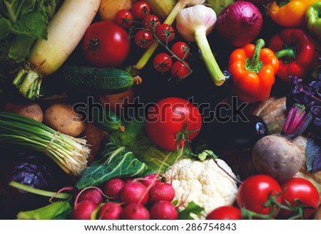 beautiful bright and fresh vegetables for the diet and weight loss, selection of vegetables for every meal to your table, vegetables non-GMO
