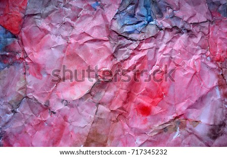 Beautiful  bright colorful  watercolor grunge background,pattern, painted hands,origami,art,rumpled paper, abstraction #717345232