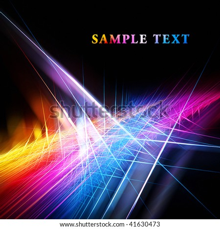 Beautiful bright fractal template