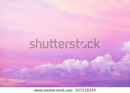 Beautiful bright sky with clouds - stock photo