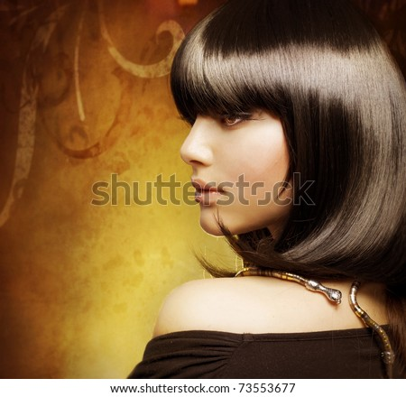 Beautiful Brunette girl - stock photo