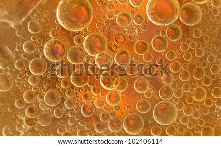 Beautiful bubbles in molten sugar