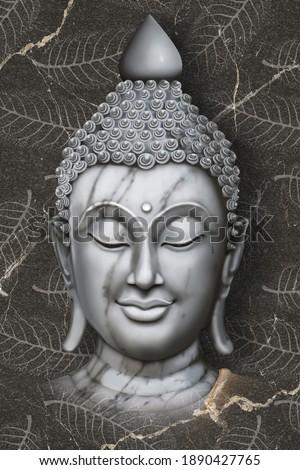Beautiful Buddha wallpaper - 3D illustration Rendering of buddha Meditation wallpaper for walls for decor.