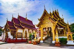 Beautiful Buddhist temple Chiang Mai, Thailand