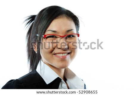 Beautiful business woman with a very confident, friendly smile.