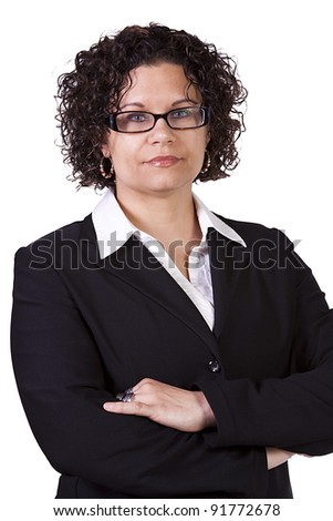 Beautiful Businesswoman Posing with her arms crossed