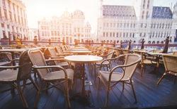 beautiful cafe in Brussels, Belgium