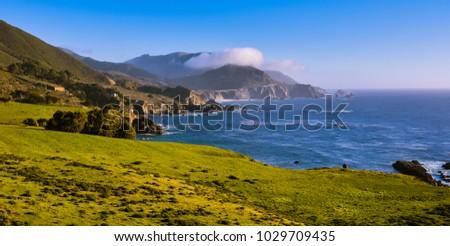 Beautiful California Coast - Big Sur, Monterey County, California #1029709435