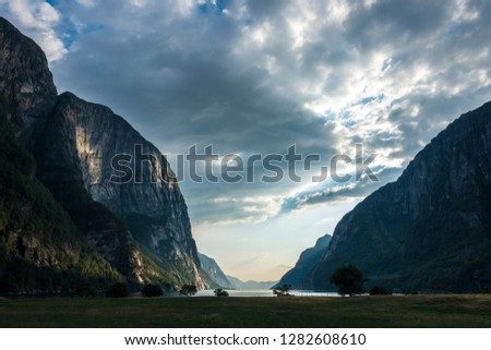 Beautiful campsite with a view over the Lysebotn fjord.