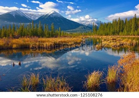 Beautiful Canadian Landscape, Jasper National Park, Alberta, Canada #125108276
