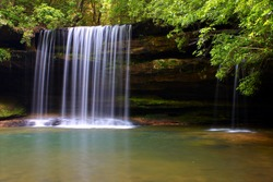 Beautiful Caney Creek Falls in the William B Bankhead National Forest of Alabama