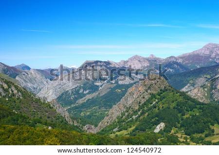 Beautiful Cantabrian mountain landscape, Spain.