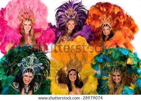 Beautiful carnival dancers, amazing costume