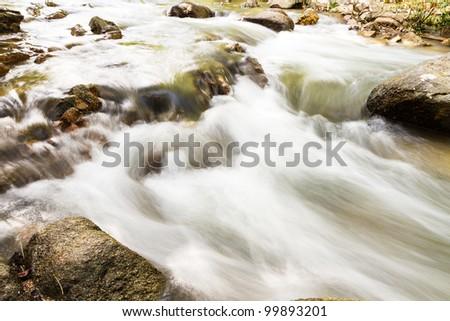 Beautiful Cascade Falls on the Rocks