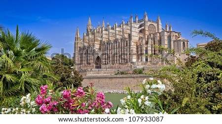 beautiful cathedral - main architectural landmark of Mallorca