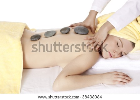 Beautiful Caucasian woman relaxing for the day at a spa