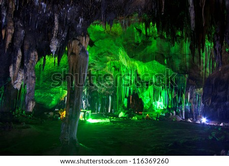 Beautiful caves in National park thailand