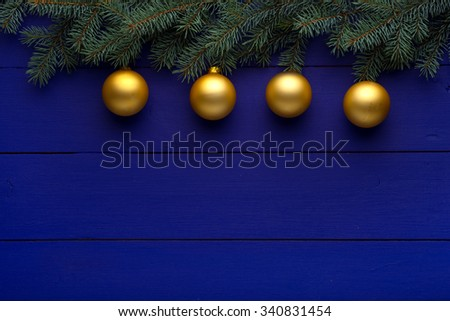 Beautiful celebratory Christmas background. New Year\'s holidays. Christmas holidays. Beautiful Christmas decorations on the wooden background