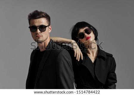 Beautiful charming couple studio luxury passion relationship model