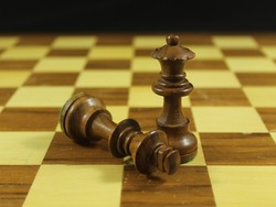 beautiful chess game with different figures strategy fun culture