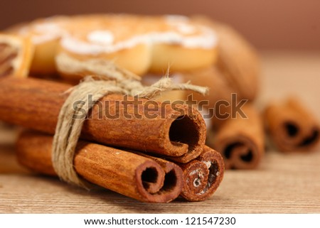 beautiful christmas background with spices