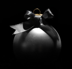 Beautiful Christmas ball on black background