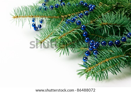 beautiful christmas decoration close-up