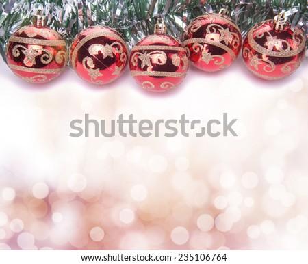 Beautiful Christmas holiday decorations. New Year\'s Eve. Festive Christmas decorations. Christmas background