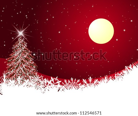 Beautiful Christmas (New Year) card. - stock photo