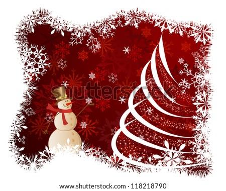 Beautiful Christmas (New Year) card. Raster version.