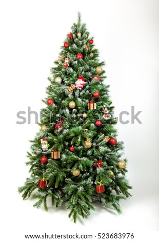 Beautiful christmas tree isolated on a white background  #523683976