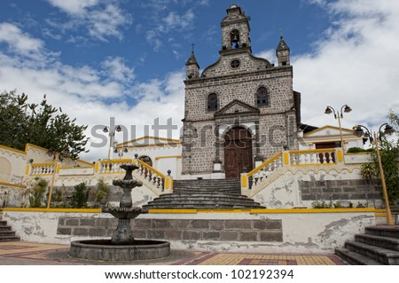 Beautiful church in the region of the sierra in Ecuador