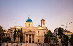 Beautiful church on a summer evening in center of Athens, Greece