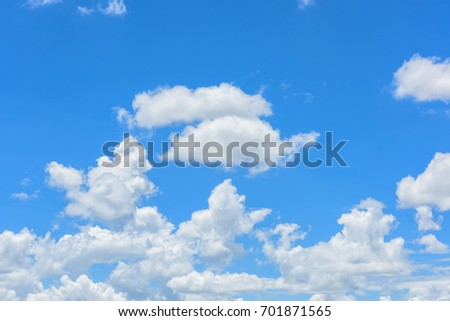 Beautiful cirrus clouds against the blue sky - Shutterstock ID 701871565