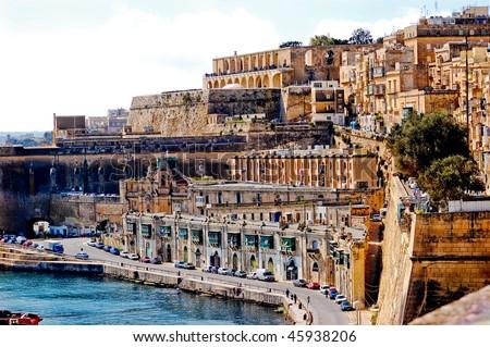 beautiful city landscape at the seaside in malta