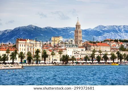 Beautiful city of Split in Croatia