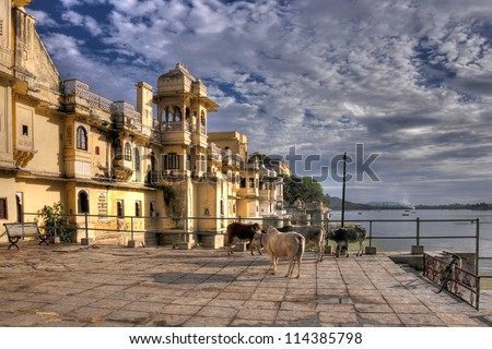 beautiful city of Udaipur in rajasthan state in india