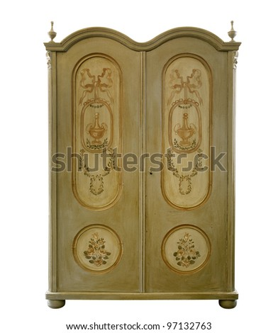 beautiful classic locker. isolated on white. (clipping path)