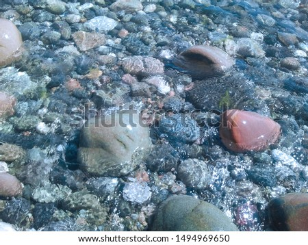 Beautiful clear and clear sea stones #1494969650