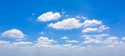 Beautiful clear blue sky with white clouds background. Soft white clouds in the blue sky, high cloud space weather beautiful blue sky glow clouds background.