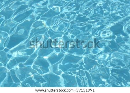 Beautiful clear pool water