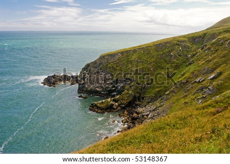 Beautiful cliffs in Howth, Ireland