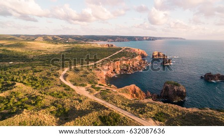 Beautiful cliffs on west coast of Portugal near Carrapateira, Rota Vicentina. #632087636