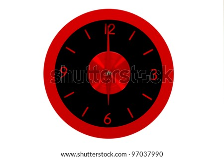 beautiful clock on the wall, business concept, 6a.m., 6p.m.