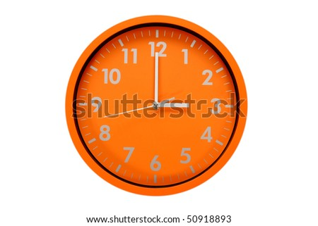 beautiful clock on the wall, 3h, 15h
