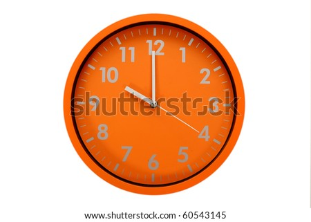 beautiful clock on the wall, 10h, 22h00