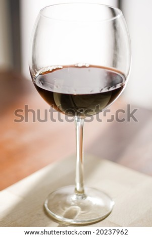beautiful close up portrait of a red wine cup.